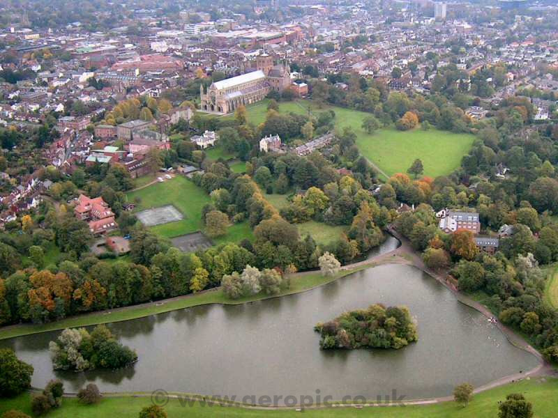 Autumn the cathedral in the centre of the photograph dates back to